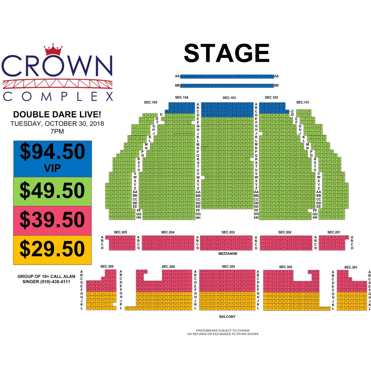 Nickelodeon Presents Double Dare Live Crown Complex