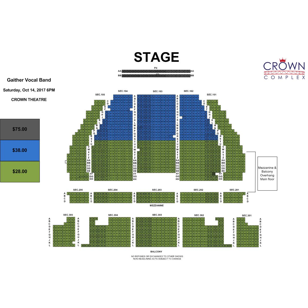 Gaither vocal band crown complex for Vocal house music charts
